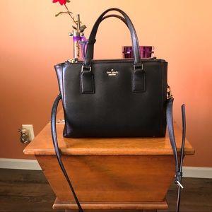 KATE SPADE black leather square bag